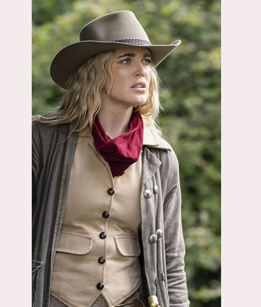 Caity Lotz Legends Of Tomorrow S05 Ep7 Sara Lance trench Coat