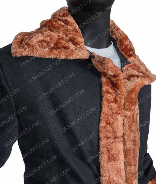 Anthony McCoy Shearling Candyman Suede Leather Coat