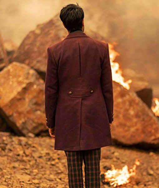Doctor Who Season 12 The Master Maroon Coat