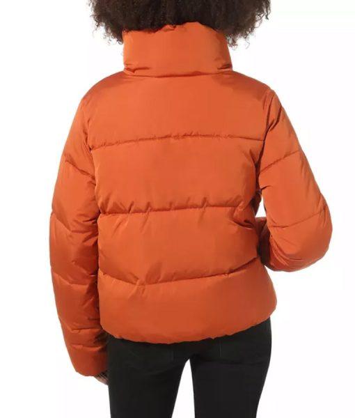 Denise Petski Empire S06 Ep14 Orange Teri Puffer Jacket