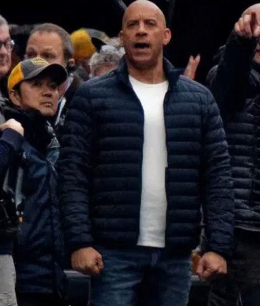 Vin Diesel Fast & Furious Dominic Toretto Black Puffer Jacket