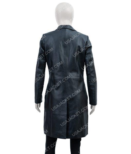 Black Leather High Fidelity Zoe Kravitz Coat