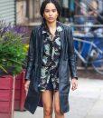 High Fidelity Zoe Kravitz Leather Coat