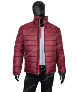 Men's Quilted Burgundy Jacket