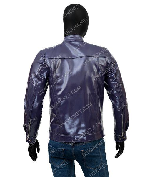 Cafe Racer Purple Leather Jacket