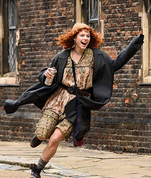 Jessie Buckley Misbehaviour Black Jo Robinson Trench Coat