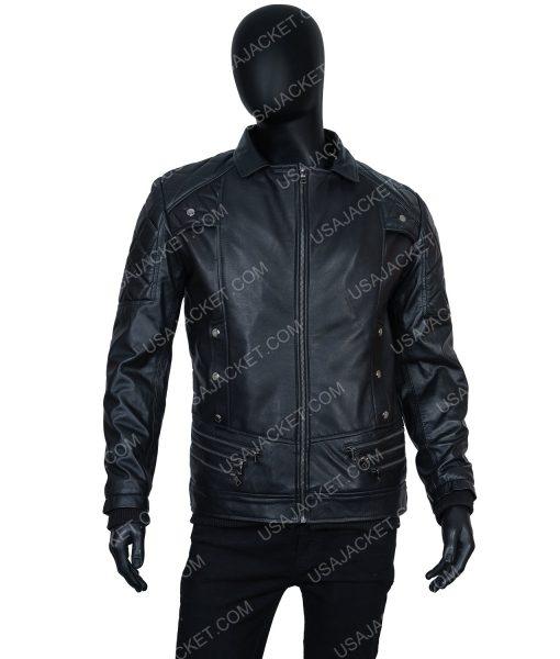Seth Rollins Black Leather Jacket