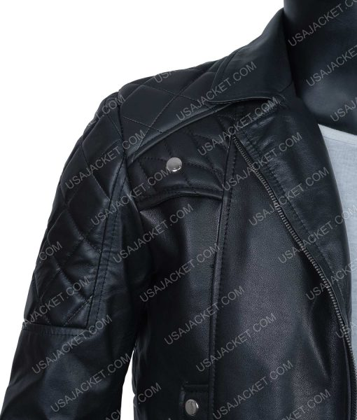 Seth Rollins Leather Quilted Jacket