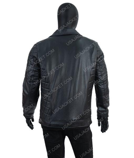 Black Leather Seth Rollins Jacket