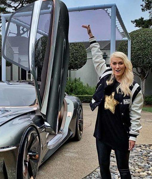 Supercar Blondie MCM Jacket With Leather Sleeves