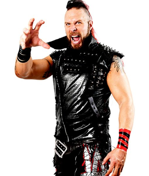 WWE Lance Archer Black Leather Studded Vest
