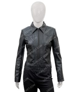 Ambyr Childers You S02 Candace Stone Black Leather Jacket
