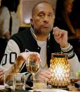 BlackAF Black and White Kenya Barris Letterman Jacket