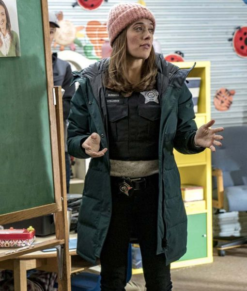 Chicago P.D. Erin Lindsay Boxy Puffer Coat With Hood