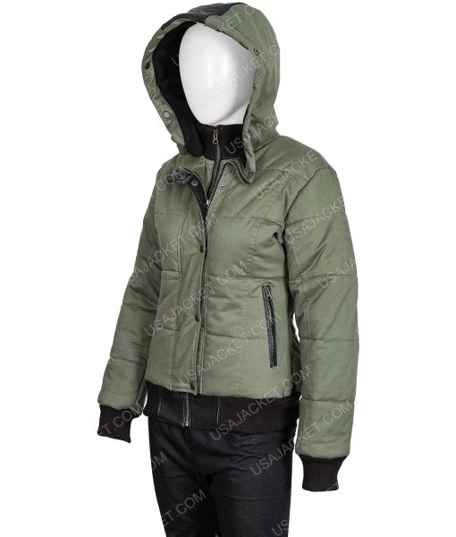 Chicago P.D. S07 Ep19 Bomber Hailey Upton Puffer Hooded Jacket