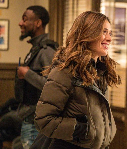 Chicago P.D. S07 Ep19 Haoley Upton Bomber Puffer jacket