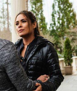 Dynasty S03 Cristal Carrington Jacket With Hood
