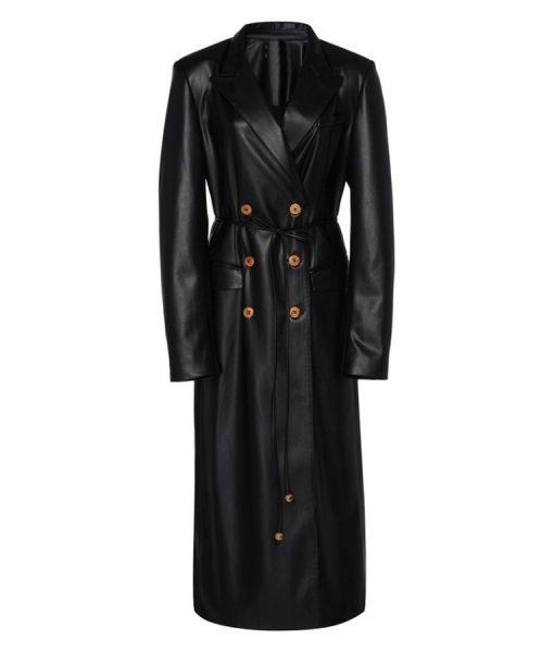 Dynasty S03 Ep16 Elizabeth Gillies Leather Coat
