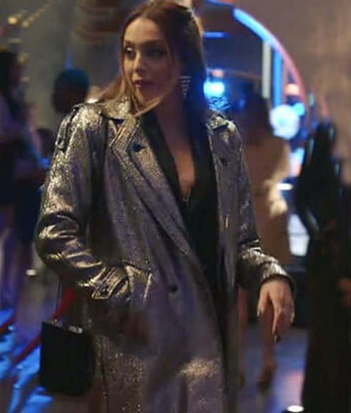 Dynasty S03 Ep16 Silver Metallic Coat