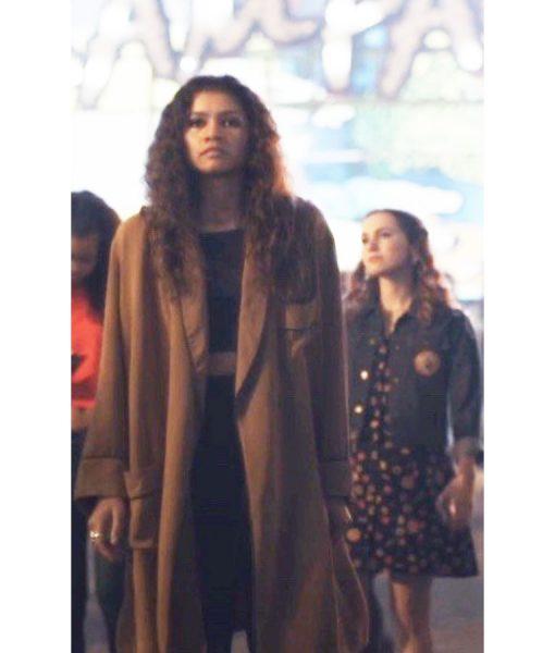 Zendaya Euphoria Rue Bennett Trench Coat