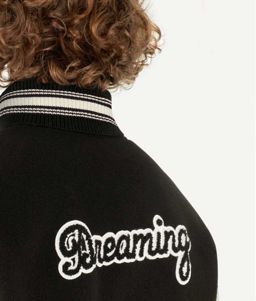 BlackAF Black and White Letterman Jacket