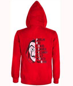 Money Heist La Casa De Papel Red Hoodie Jacket