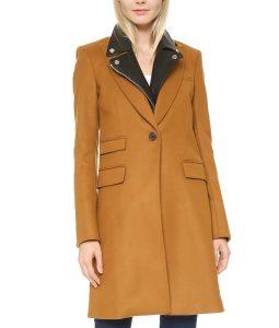 Manifest Season 02 Michaela Stone Wool-Blend Coat