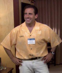 Microsoft Office Hawaiian Cotton Shirt