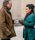 New Amsterdam Tyler Labine Brown Distressed Leather Jacket