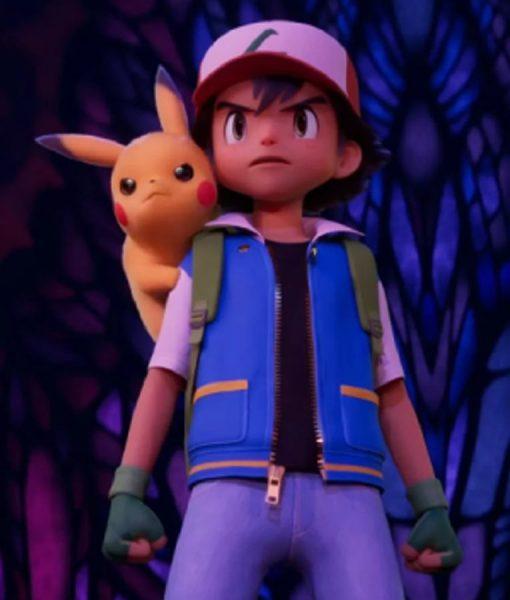 Pokemon Ash Ketchum Blue Leather Jacket