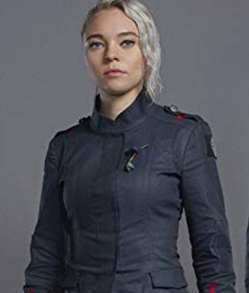 Raelle Collar Motherland Fort Salem Grey Jacket