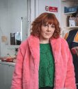 Sophie Willan Alma's Not Normal Pink Shearling Jacket