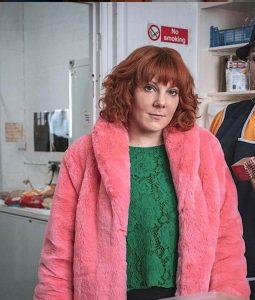 Sophie Willan Alma's Not Normal Pink Shearling Jacket