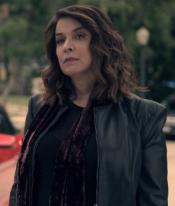Truth Be Told Annabella Sciorra Black Leather Jacket