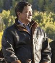 Yellowstone Thomas Rainwater brown Leather Jacket