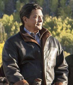 Yellowstone Thomas Rainwater brown Leather Jacket