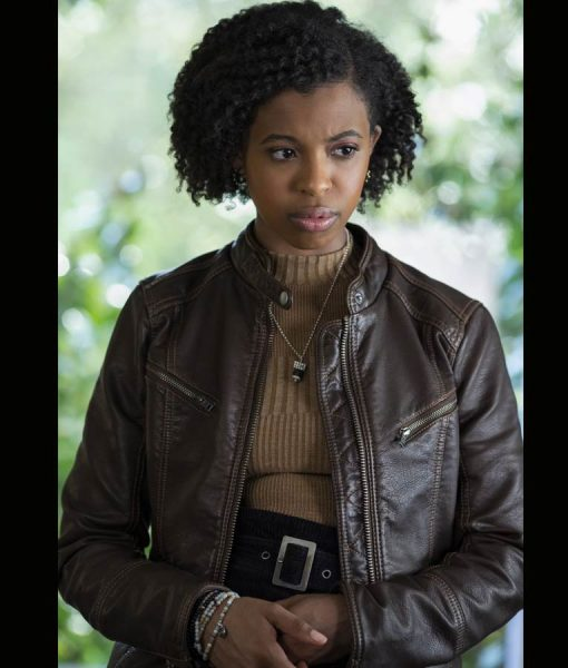 13 Reasons Why Season 04 Ani Achola Leather Jacket