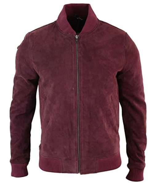 Black Mirror S05 Karl Suede Leather Bomber Jacket