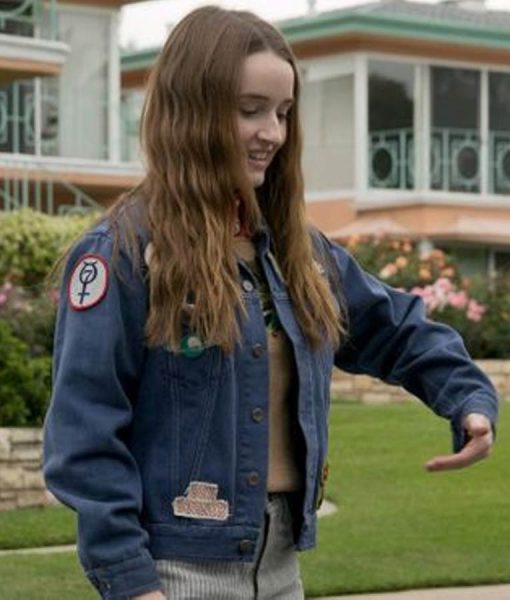 Booksmart Amy Denim Jacket With Patches