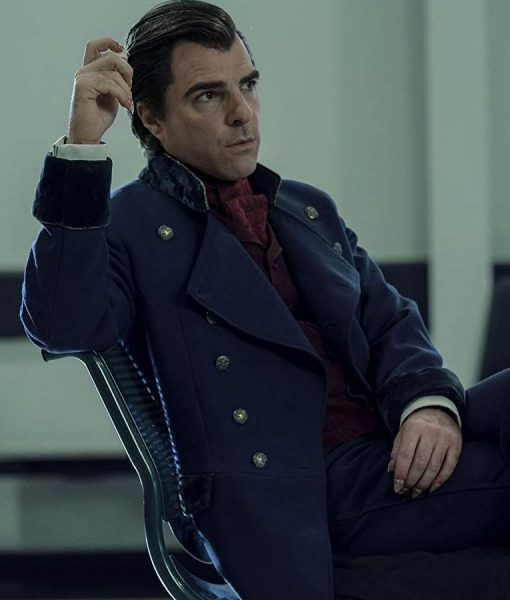 Zachary Quinto Double Breasted Charlie Manx NOS4A2 Long Coat