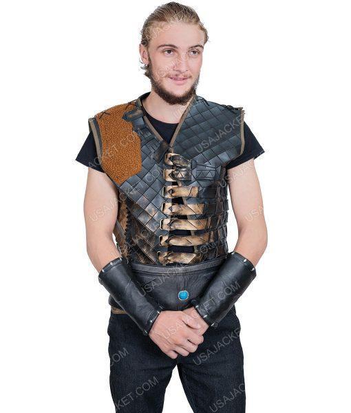 Düzyatan Dirilis Ertugrul Bey Brown Leather Vest