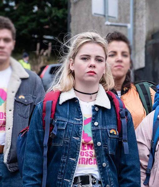 Derry Girls Erin Sherpa Denim Jacket
