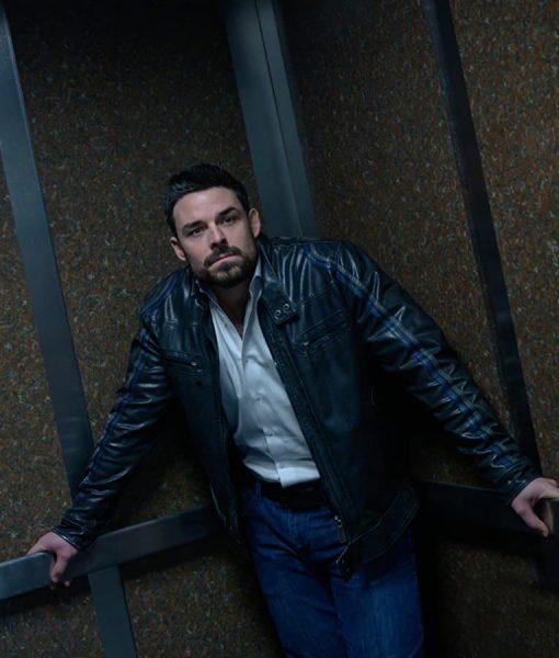 Detective Saks Torn Dark Bullets Motorcycle Jacket