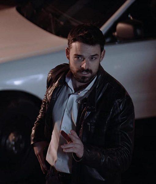 Detective Saks Torn Dark Bullets Leather Jacket
