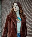Eve Lindley Brown Shearling Dispatches From Elsewhere Jacket