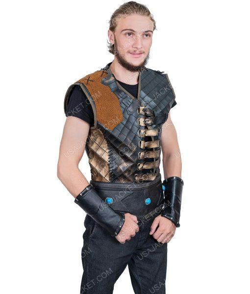 Engin Altan Düzyatan Dirilis Ertugrul Bey Dark Brown Leather Vest