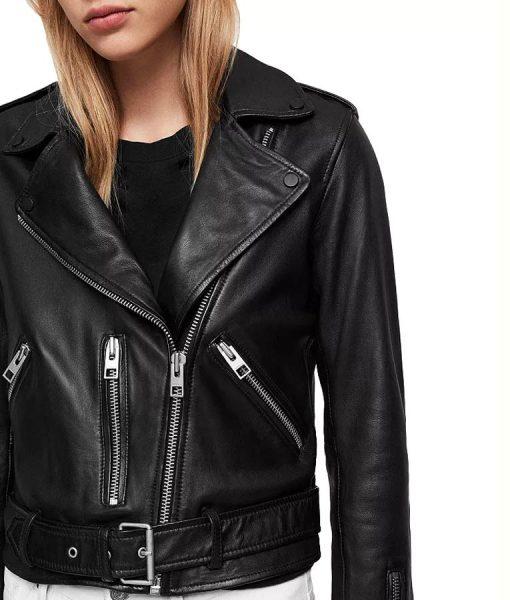 Hightown Jackie Quiñones Black Leather Jacket