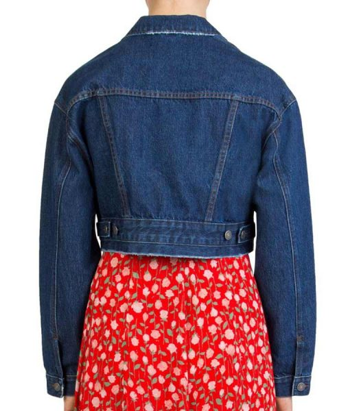 Issa Rae Cropped Insecure Season 4 Denim Jacket