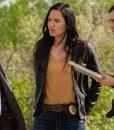 Jessica Matten Tribal Leather Jacket