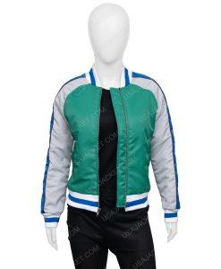 KiKi Layne The Old Guard Green Bomber Jacket